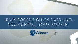 Leaky Roof? 5 Quick Fixes to Hold You Over Until You Contact Your Roofer